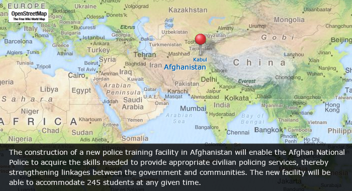 EU backs construction of police training facility in