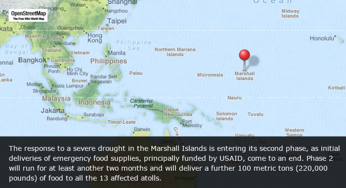 Marshall Islands Drought Operation Enters Second Phase - Marshall islands map
