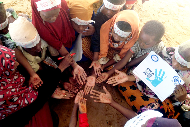 How does Female Genital Mutilation inhibit the development of the countries it affects?