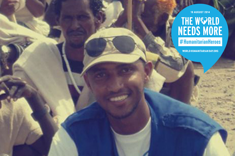 Sheiknoor Hassan, National Program Officer – ETHIOPIA. As a humanitarian aid worker, he feels rewarded when he can reach out to disaster affected communities and bring a smile on the faces of the people in need.