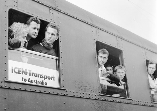At dawn the train from Salzburg, carrying one hundred and sixty six Hungarian migrants, stop in Munich. These migrants have already been selected for resettlement to Australia. Photo © IOM 1958 – HFG0123