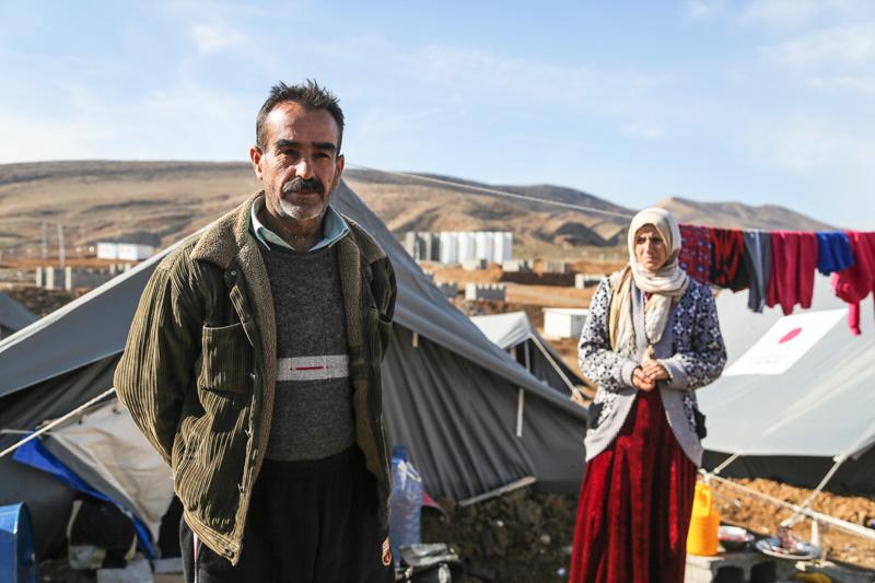 Khalil Ibrahim, de 48 años de edad, refugiado sirio proveniente de Aleppo y uno de los beneficiarios de las tiendas de campaña donadas por el Gobierno del Japón. © OIM 2014