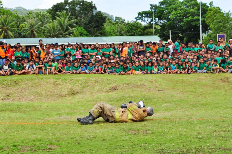 """IOM, with funding from the United States Agency for International Development (USAID), and in coordination with the Pohnpei State Department of Education (PDOE), has organized a three-day """"School Emergency Planning and Preparedness Training."""" © IOM 2012"""