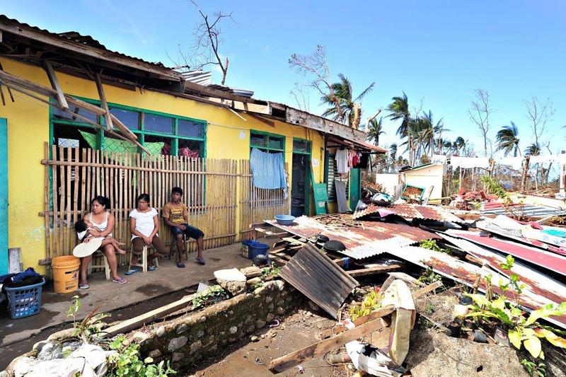 La escuela primaria de Dulangan en la localidad de Pilar, Capiz, que ahora hace las veces de centro de evacuación. © Blue Motus 2013
