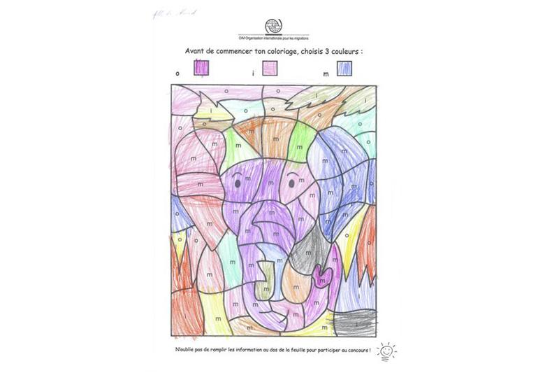 El elefante más colorido Zineb – 6 años