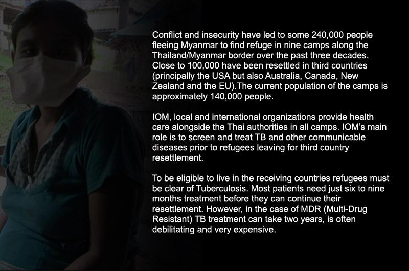 Puesto sanitario de la OIM en el campamento para refugiados de Mae Lat, en la frontera con Myanmar. © OIM 2012