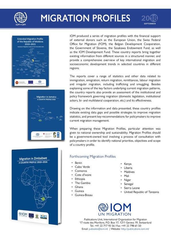 migration profiles international organization for migration