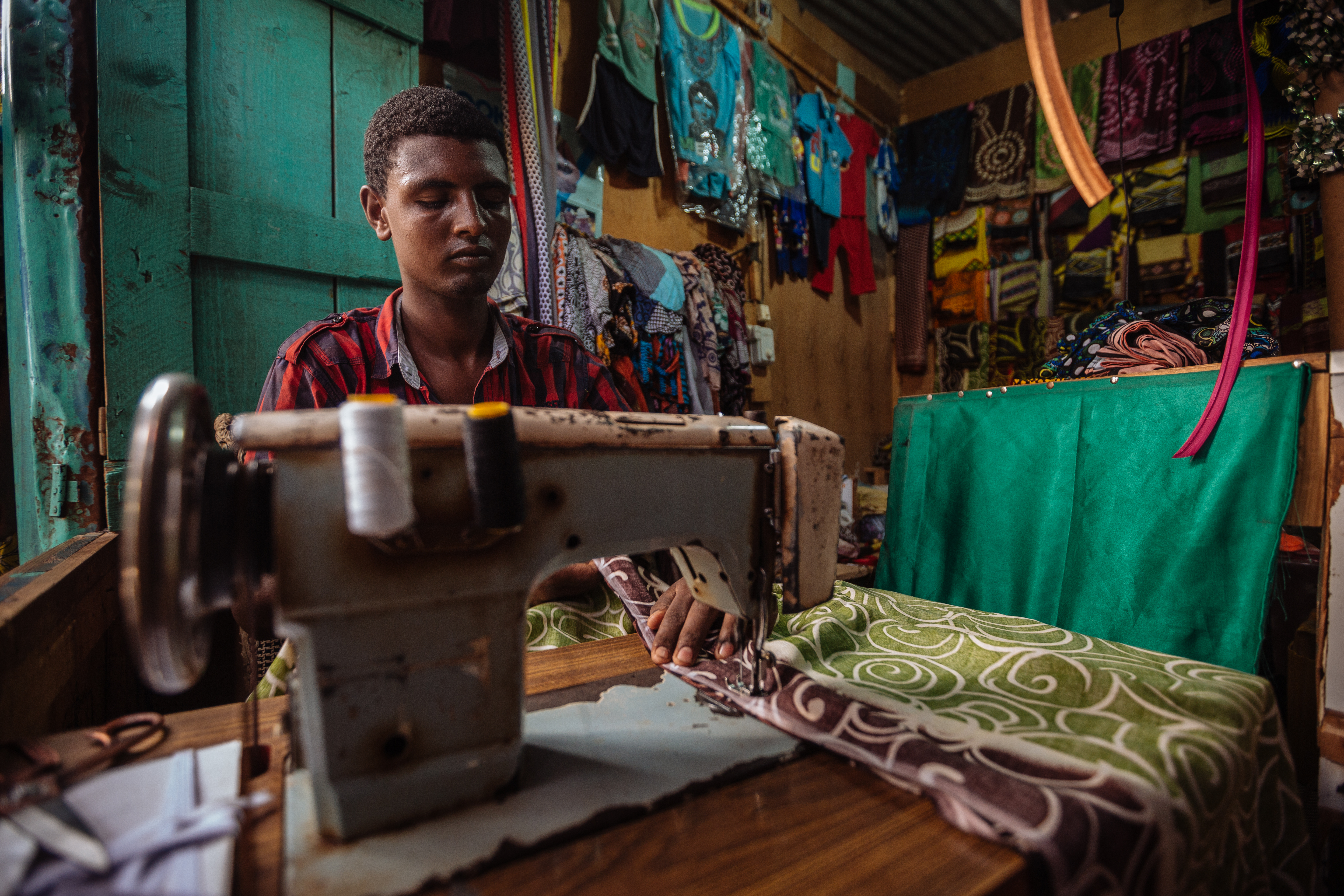 Sabil is a 20 year old Ethiopian migrant living in the town of Balbala. Originally from the Oromo region of Ethiopia, he came to the town two years ago searching for better work prospects.