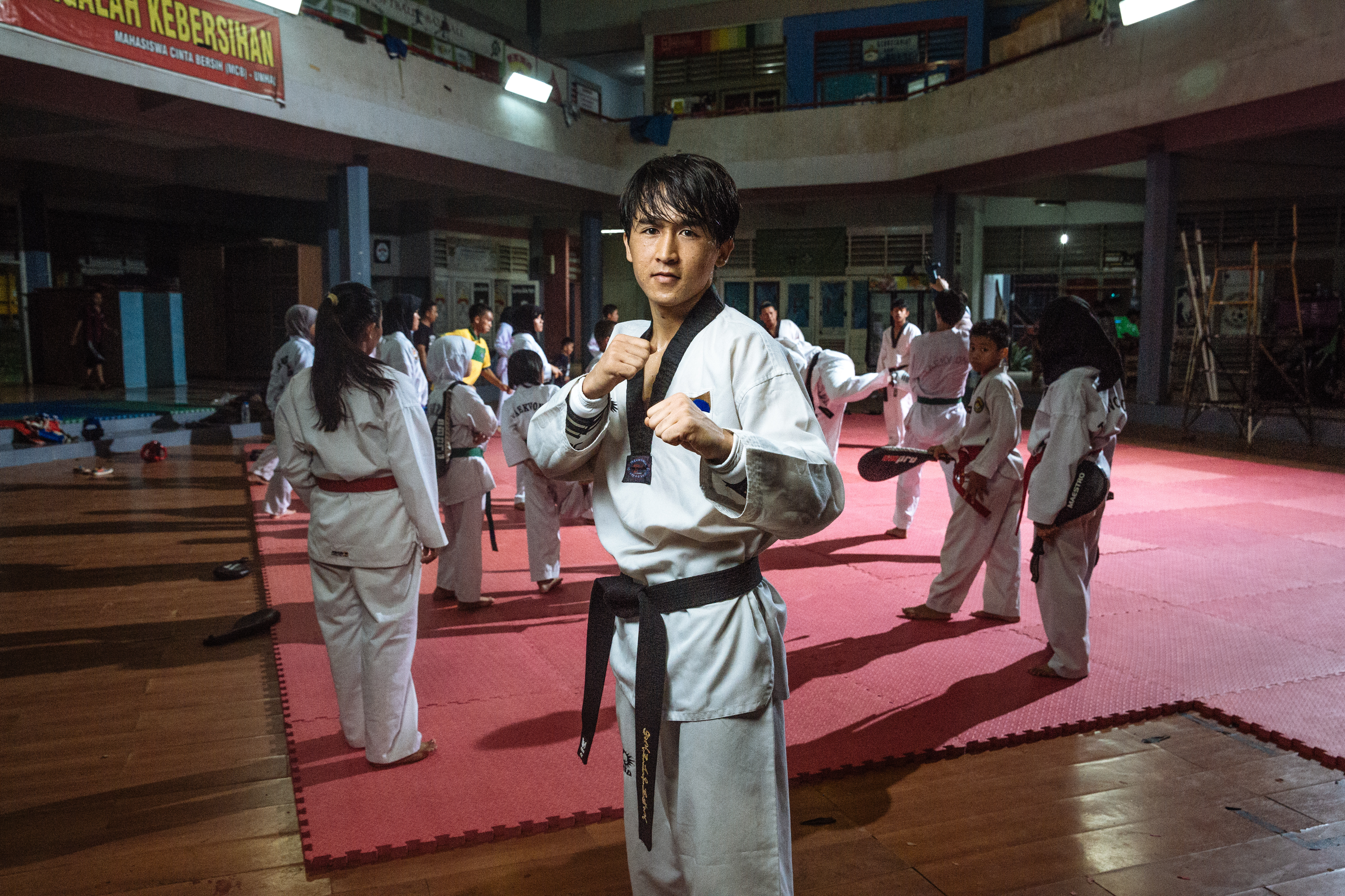 """Osman began training in Taekwondo as a child in Afghanistan, inspired by the example of two-time Olympic bronze medalist Rohullah Nikpai, who is an ethnic Hazara like himself. """"It is not easy being a Hazara in Afghanistan; we are often discriminated against by other ethnic groups and the Taliban who do not see us as 'real' Afghans,"""" he says. """"When I saw Rohullah at the Olympics I felt that anything was possible if I tried hard enough."""""""