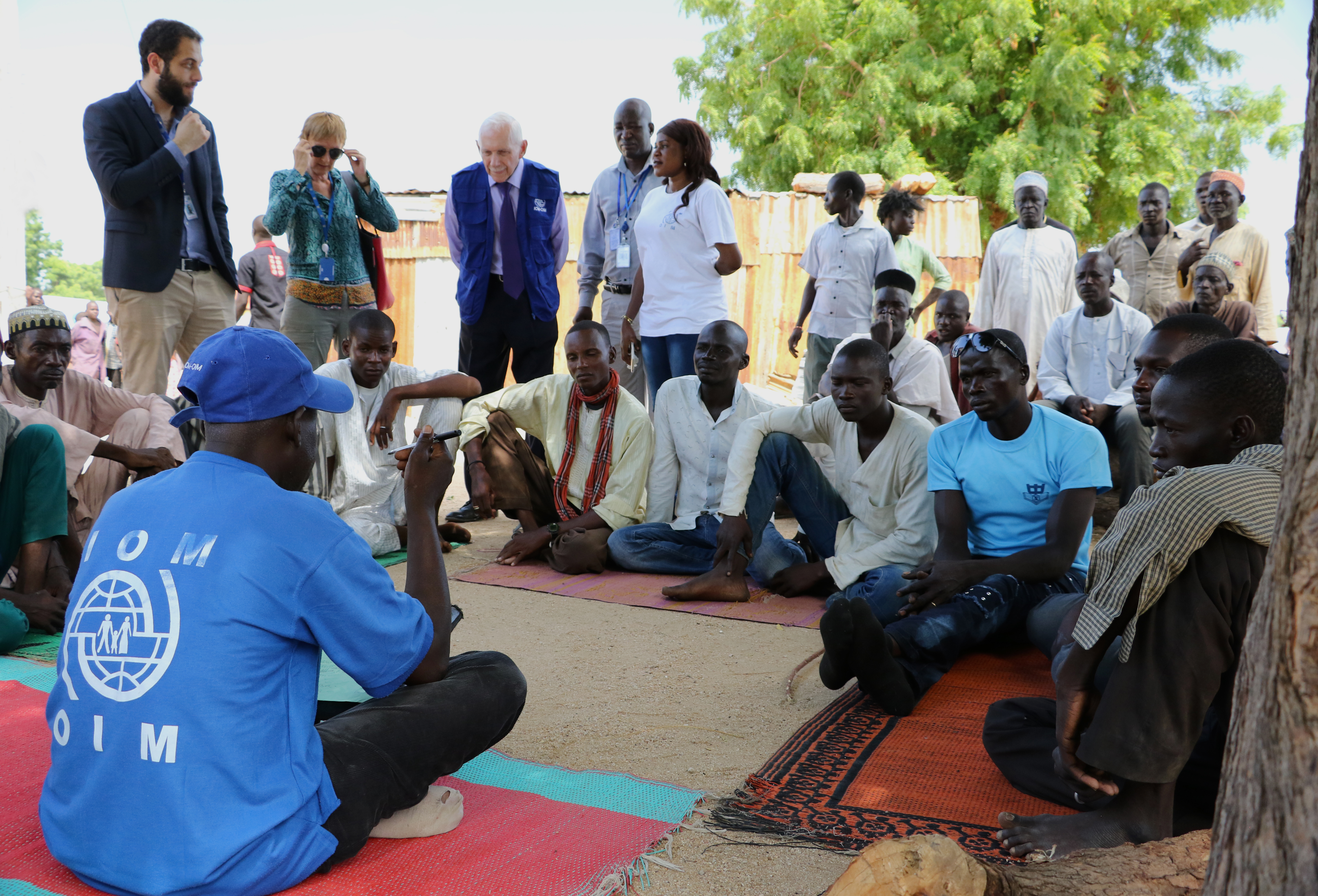 IOM Director General William Lacy Swing spent three days meeting with some of the internally displaced at camps and in communities in the hardest hit areas of Borno state, the epicentre of the conflict. IOM's emergency response is based in Maiduguri, the capital of Borno and the birthplace of Boko Haram.  Photo: Julia Burpee / UN Migration Agency (IOM) 2017