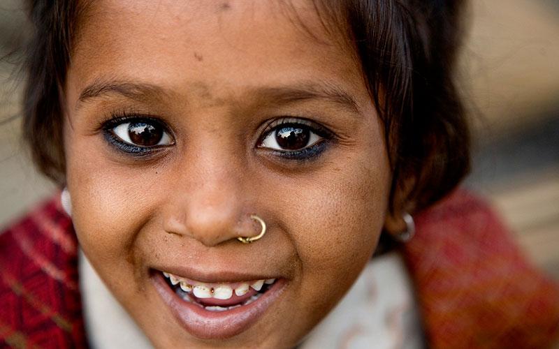 A Bhutanese girl refugee inside a camp in Nepal. © IOM/Kari Collins 2009 - MNP0165