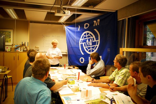 Eager to learn. A core group of 30 Polish construction workers in Norway participates in language training classes as part of the IOM project to empower Polish migrant workers. © IOM 2008
