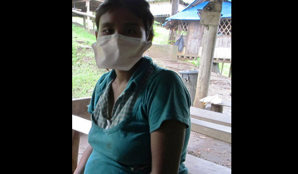 This mother of two, seven months pregnant, was recently diagnosed with MDR TB and has overcome successfully the intensive phase of treatment. She says she is determined to get well and resettle to Australia. © IOM 2012