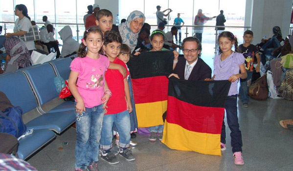 Helping refugees who fled from Libya to Tunisia start new lives in Germany. IOM arranged their flight and pre-departure health screening as well as provided cultural orientation trainings. © IOM 2012