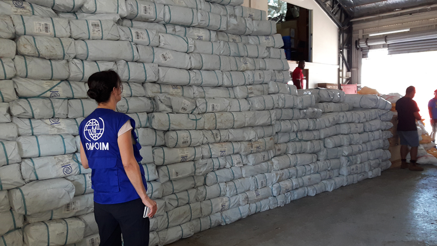 We have gone through 10 grueling days in Fiji, from helping unload 81 tonnes of IOM relief supplies from a Boeing 747 at Nadi airport to finalising essential partner organization agreements in hotel lobbies at midnight. © IOM/Vagi William, 2016