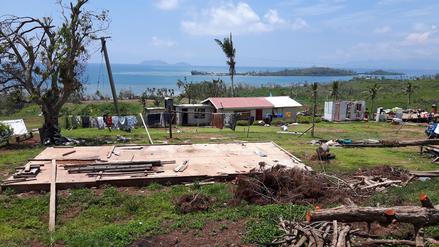 As we turned from the main road onto a dirt track, I realised I had been blinded about the true impact of Cyclone Winston until reality revealed itself. I could not look away from a house's foundations that still contained many items that occupy an average home: a washing machine, a kitchen sink, a raggedy teddy bear, even – literally - the kitchen sink.  Now everything was exposed and unsheltered from the elements of nature. © IOM/Robyn Ormerod 2016