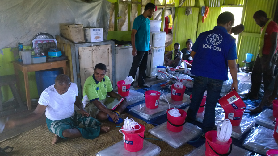 The delivery of relief items was provided by local Fijian organisations through a ceremonious process. It rapidly became apparent that it was important for these Fijian communities to recognise international aid providers as part of a bigger community assisting and empowering another community, just as their own communities would do, rather than as charity. © IOM/Vagi William 2016