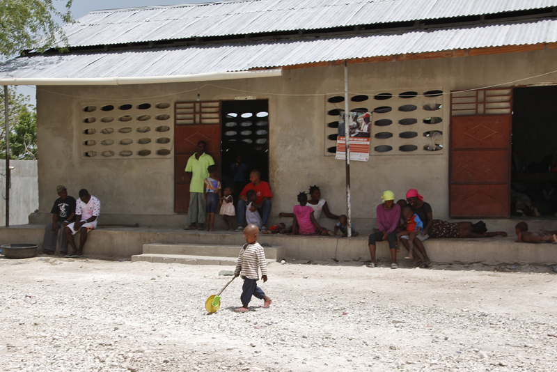 The Fond Bayard school where returnees are hosted. © IOM/Ilaria Lanzoni 2015