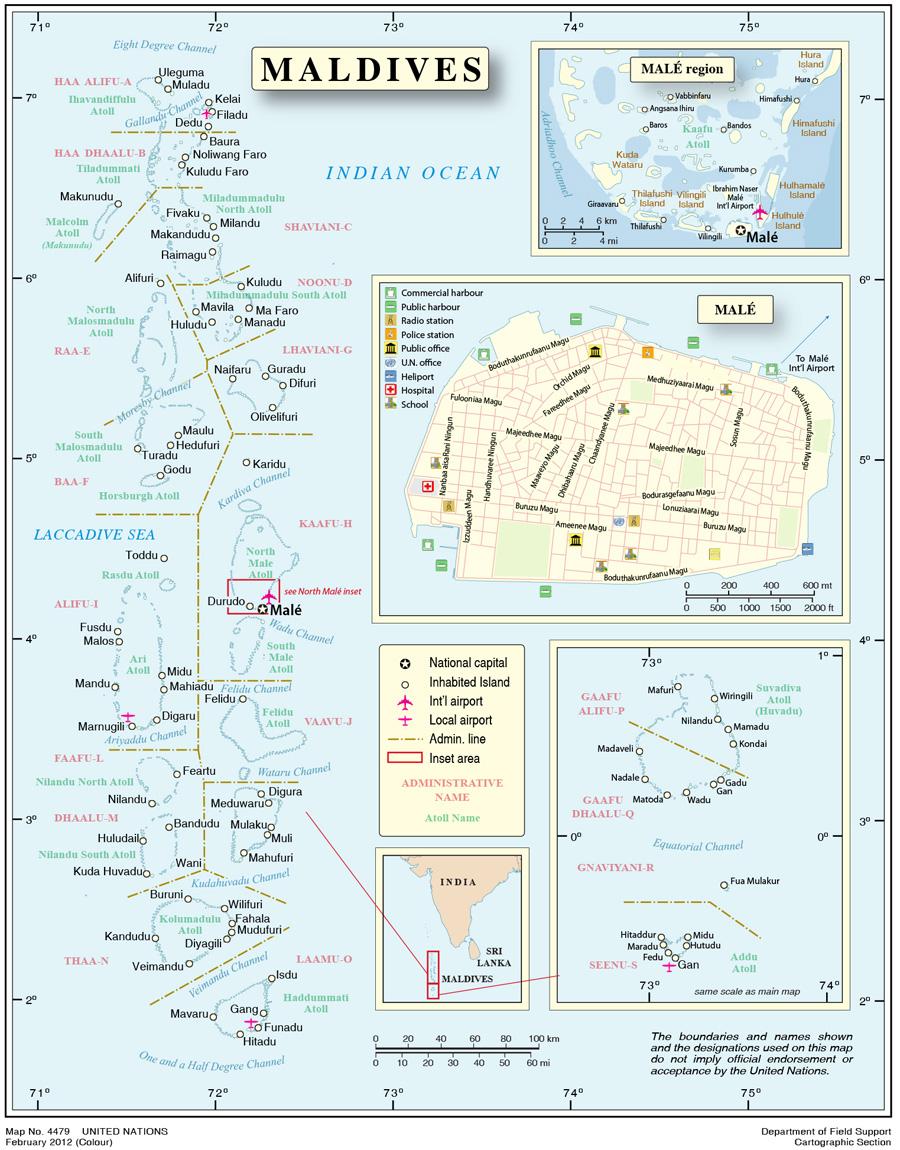 Maldives International Organization For Migration - Republic of maldives map