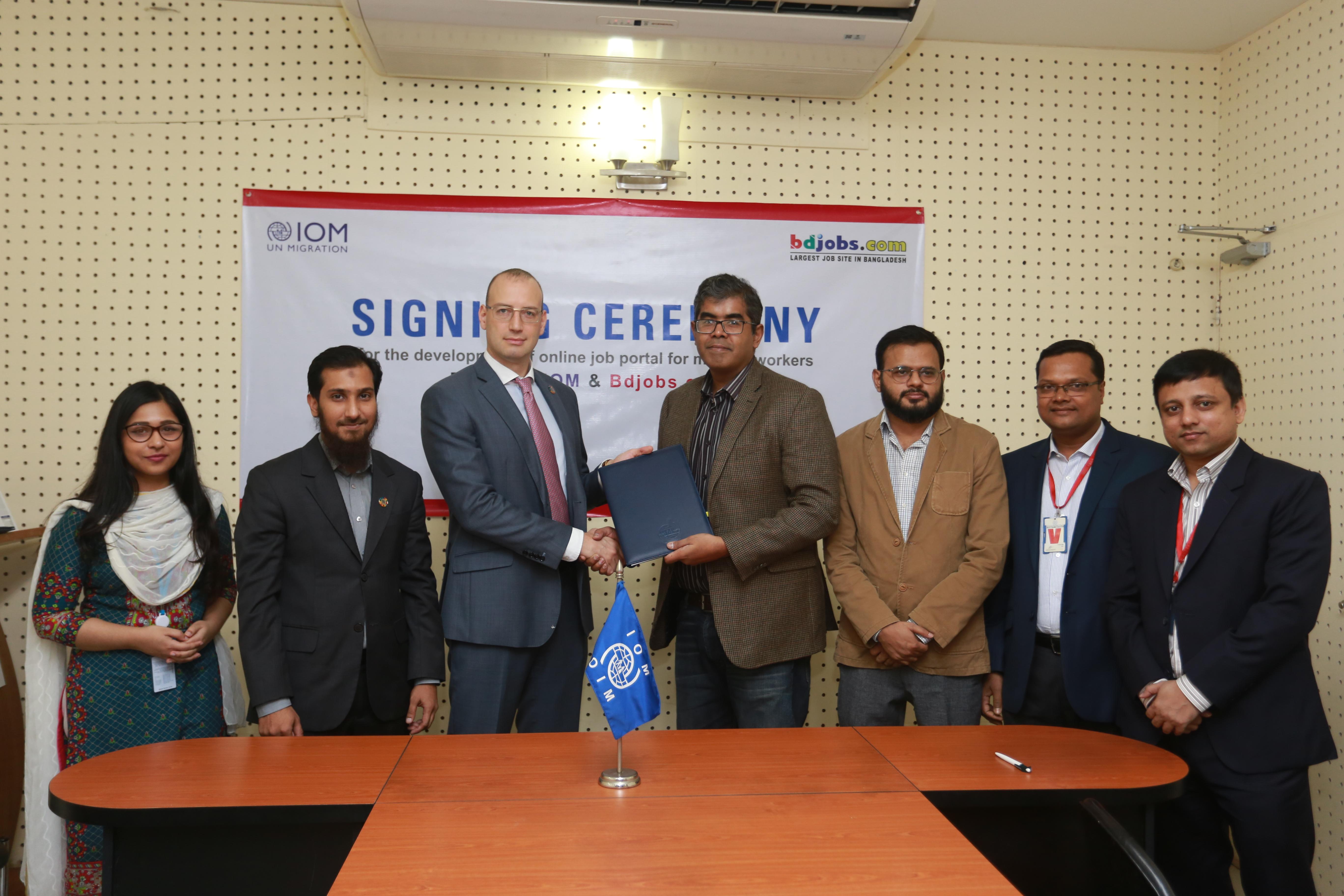 Bangladesh's Largest Job Site, UN Migration Agency Partner to Combat Unethical Recruitment Practices