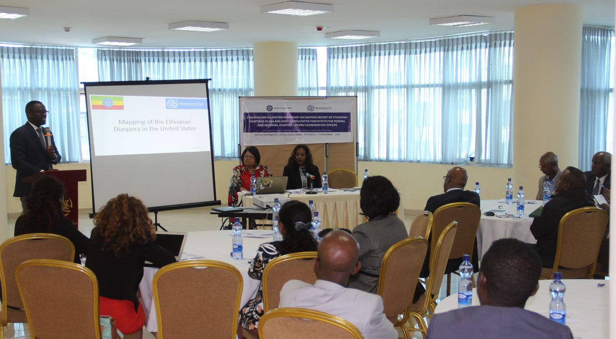 IOM Presents Study Findings on Ethiopian Diaspora Mapping in