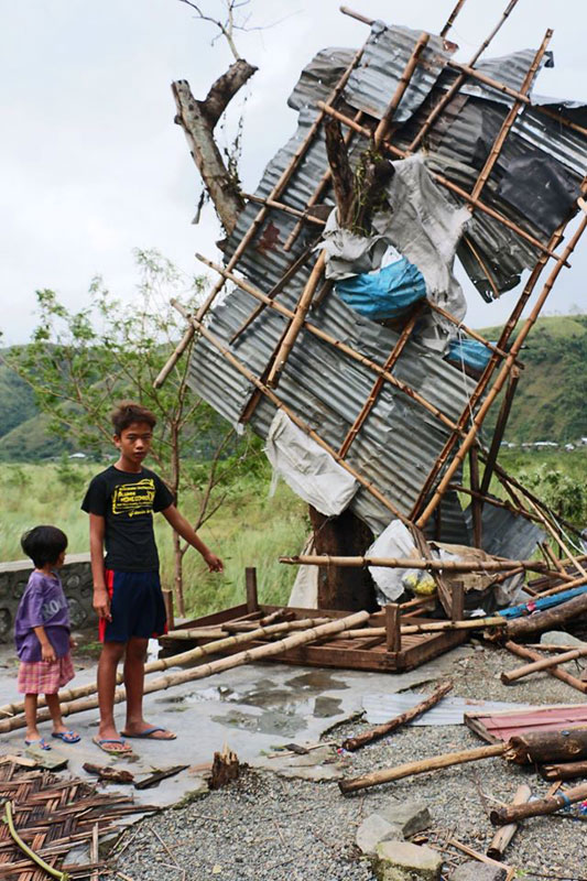 A house damaged by Super Typhoon Haima that hit Northern Luzon on Thursday