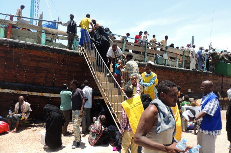 IOM, UNHCR Work Together to Aid Migrants and Refugees Fleeing Yemen