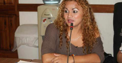 Twenty-six year old Francia Michelle, from Chinandega, Nicaragua, shares her experience as a migrant and a transgender person. © Interamerican Institute for Human Rights