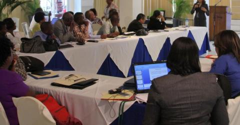 IOM this week supported the Haitian Ministry of Health and the National Anti-Tuberculosis Program by organizing and facilitating the second bi-national workshop on tuberculosis (TB), which was attended by delegations from Haiti and the Dominican Republic, and representatives from IOM and WHO. © IOM 2014