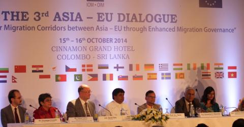 """Sri Lanka hosts the third Asia-EU Dialogue on Labour Migration in collaboration with the International Organization for Migration (IOM) and funded by the European Union (EU). This year's dialogue focused on the theme of """"Strengthening Labour Migration Corridors between Asia and EU through Enhanced Migration Governance""""."""