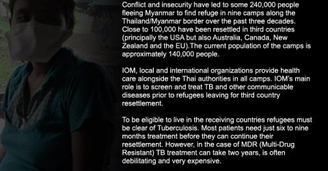 An IOM health post in Mae Lat refugee camp on the border with Myanmar. © IOM 2012