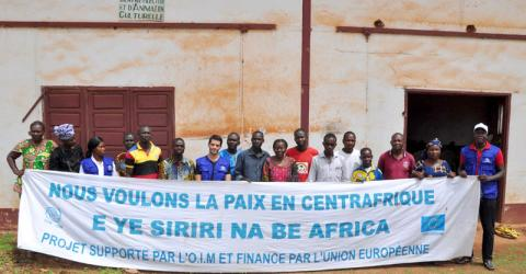 """IOM launches a literacy and business start-up training program for beneficiaries in the """"Cash for Work"""" activities in the Central African Republic. © IOM 2016"""