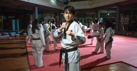 Osman began training in Taekwondo as a child in Afghanistan, inspired by the example of two-time Olympic bronze medalist Rohullah Nikpai, who is an ethnic Hazara like himself.