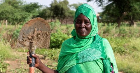 The Sissakou integrated farm set up by IOM Mauritania allows women to strengthen their resilience and empowers them to play a greater role in the economic growth of their communities. Photo: IOM/F.Giordani