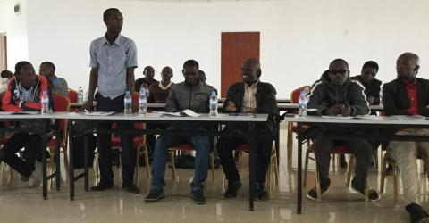 Some of the 20 staff from Rwandan Skills Training Institutes attending the training of trainers workshop.