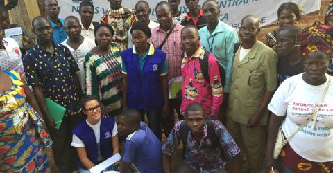 Some of the participants attending project development training for local associations in Ndélé, Central African Republic.