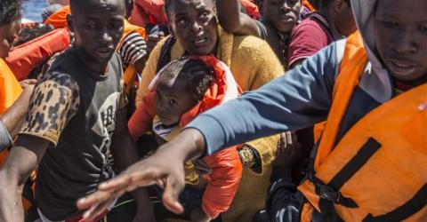 African migrants rescued in the Mediterranean. Photo: Jason Florio/MOAS 2016