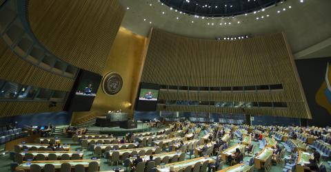 The UN General Assembly Hall, New York. Photo: UN/Manuel Elias