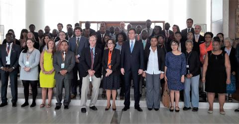 70 delegates and experts from the African, Caribbean and Pacific (ACP) States and from the European Union (EU) from 24 countries convene in Guyana this week to address counter-trafficking and migrant smuggling. IOM/2017