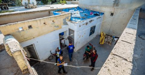 IOM Turkey staff assessing buildings for rehabilitation. Photo: IOM/Muse Mohammed 2016