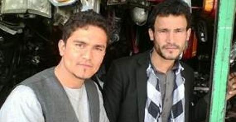 Back in Afghanistan this returnee (left) restarted an auto spare parts store with a close friend.  He is an expert in his field, but support through the AVRR programme ensured that their enterprise had better chances to succeed.