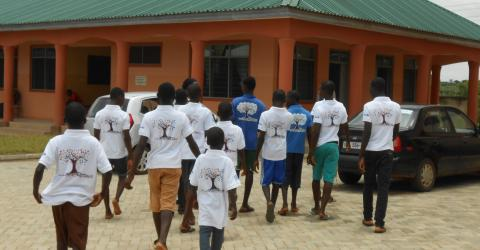 Some of the ghanaian children who have been rescued by IOM. © IOM 2015