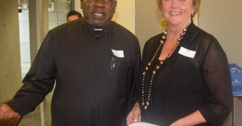 IOM Regional Director for Southern Africa Josiah Ogina (left) and Norway's Ambassador to South Africa, Trine Skymoen