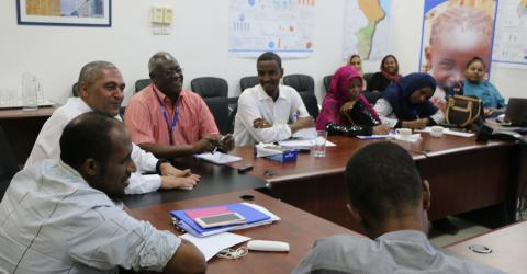 Some of the participants at IOM Sudan's second Media and Migration Forum.