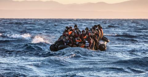 Migrants and refugees rescued in the Aegean Sea by the Migrant Offshore Aid Station (MOAS). © MOAS.EU/Jason Florio