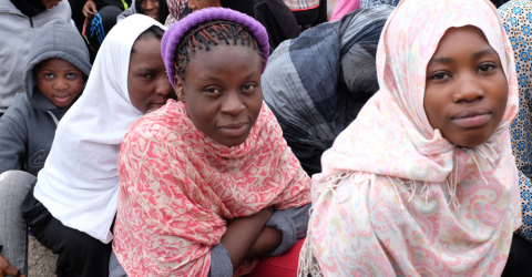 Migrants in a migrant detention centre in Libya. Photo: UN Migration Agency (IOM)/2017