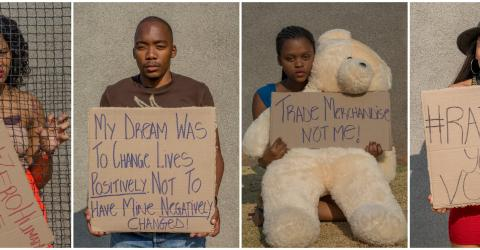 Students at the University of Johannesburg have developed a social media campaign to combat human trafficking in South Africa.