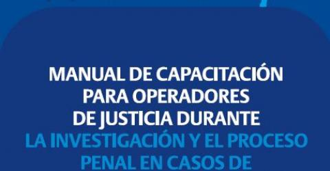 Training Manual for the Judiciary in the Investigation and Processing of Cases of Trafficking in Persons. Photo: IOM