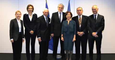 IOM and EU senior officials meeting in Brussels. Photo: European Commission 2017