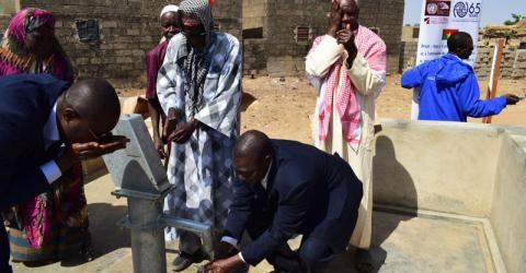 One of the two new bore holes in Beguedo. Photo: IOM